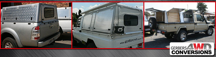 Gerberu0027s have long established and proprietary relationships with select sub-contractors who manufacture specialist components for their conversions. & 4x4 Canopies by Moto-Inn Bloemfontein